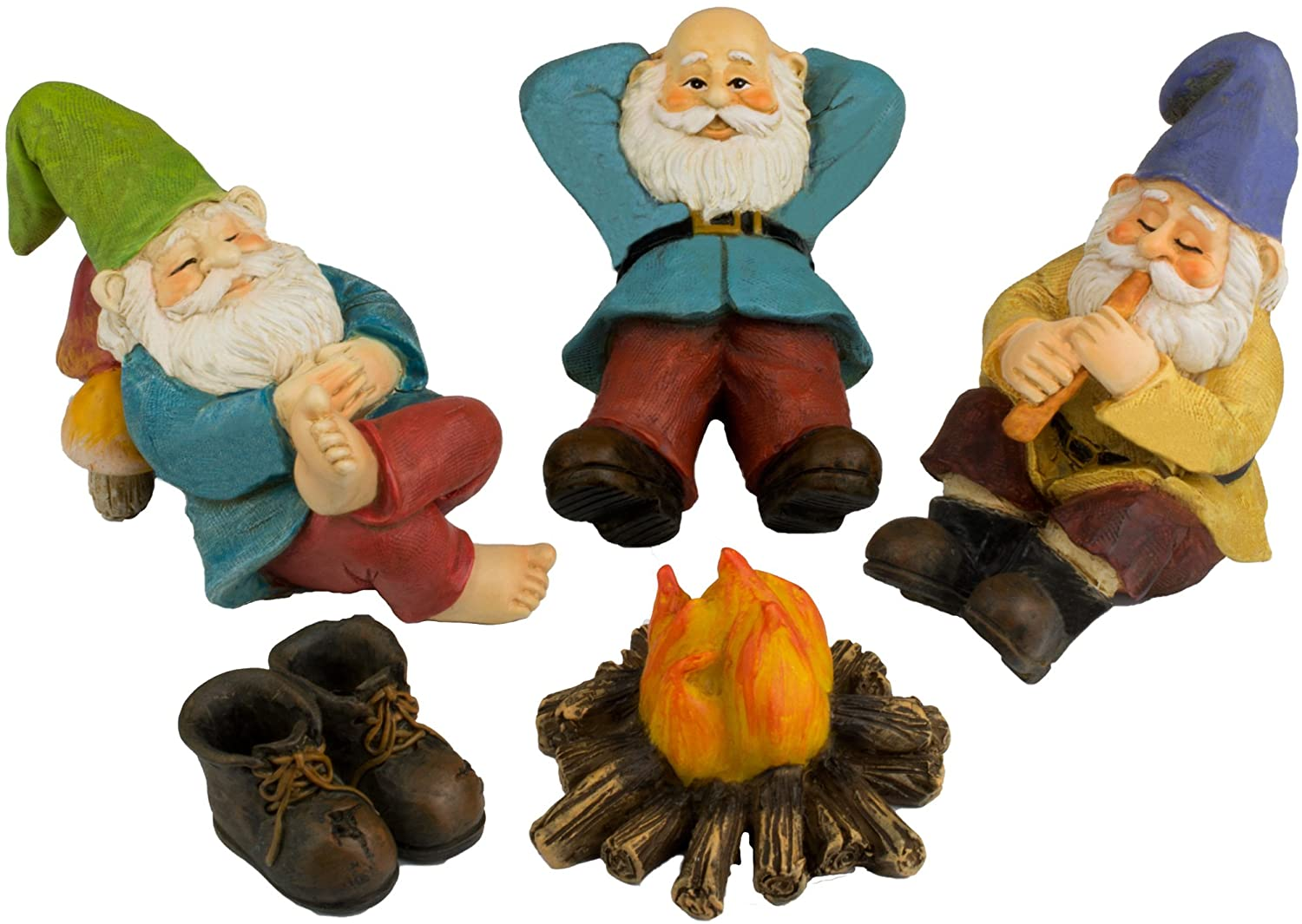 Twig & Flower Relax By The Campfire Mini Gnome Set