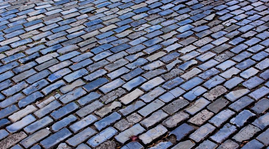 cobblestone landscape rocks