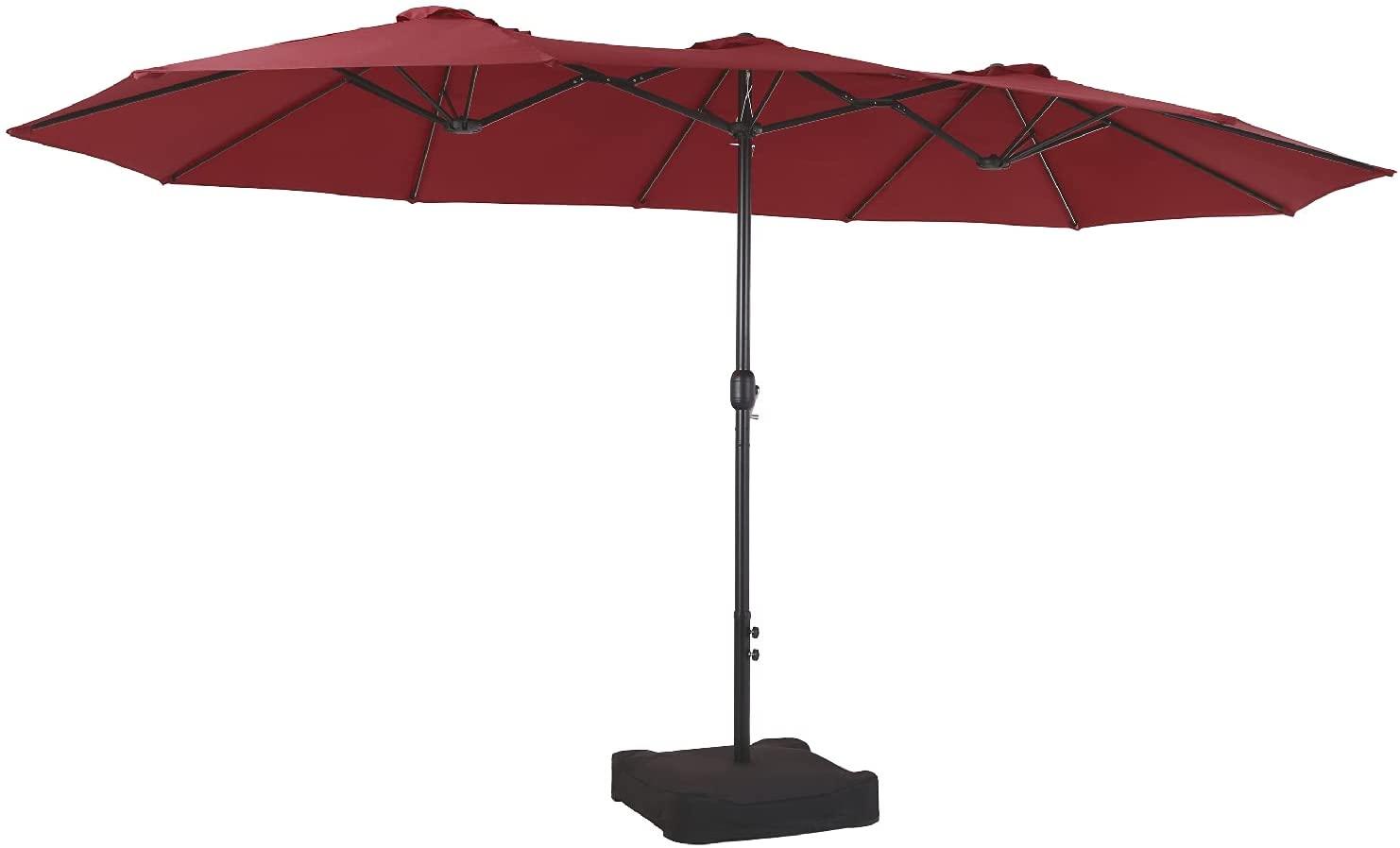 PHI VILLA Double-Sided Patio Umbrella