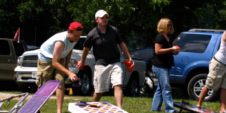 Cornhole at a Barbecue
