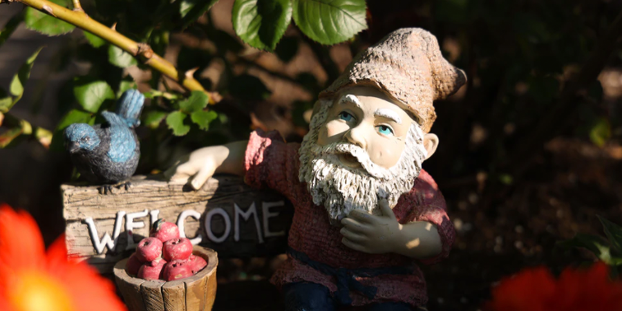 Garden Gnome with Apples