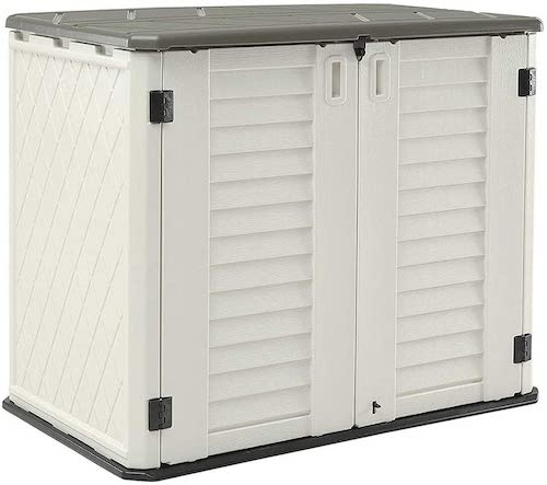 HOMSPARK Horizontal Storage Shed