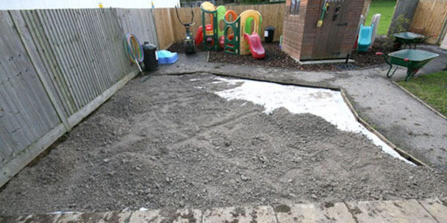 Gravel In Backyard