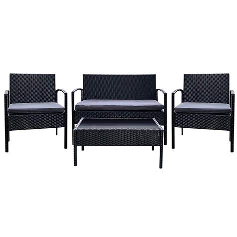 M&W 4 Piece Patio Furniture Set