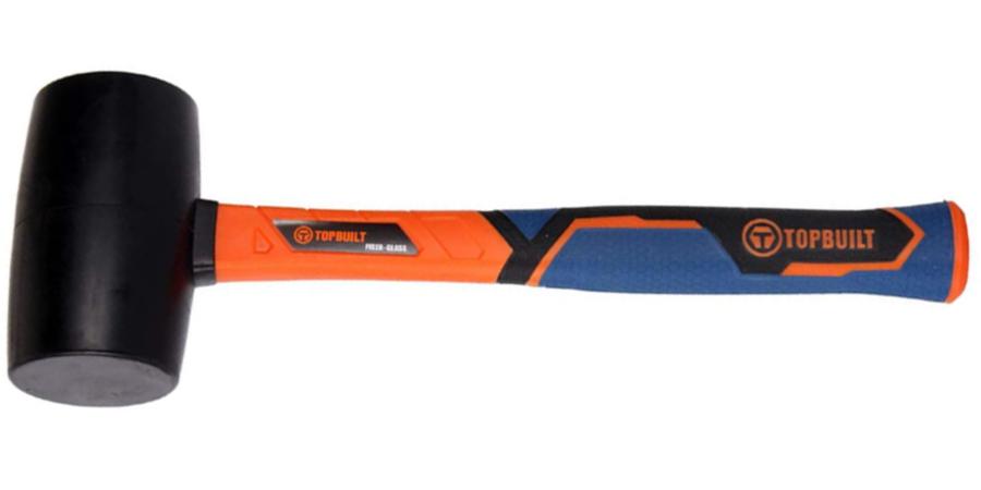 Orange and Blue Rubber Mallet