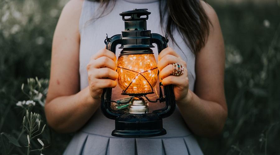fairy light lantern for outdoor decor