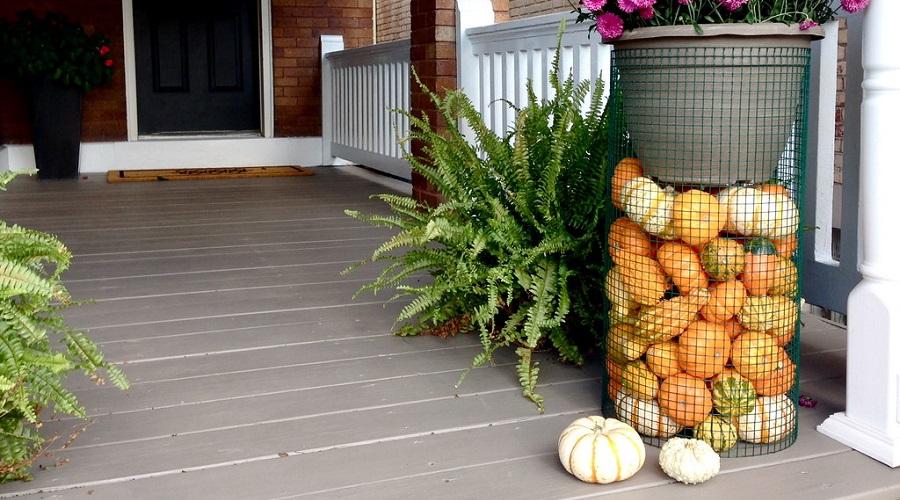 outdoor pumpkin plant stand