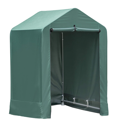 ShelterLogic 4' x 4' x 6' Water-Resistant Pop-Up Deck and Garden Storage Shed