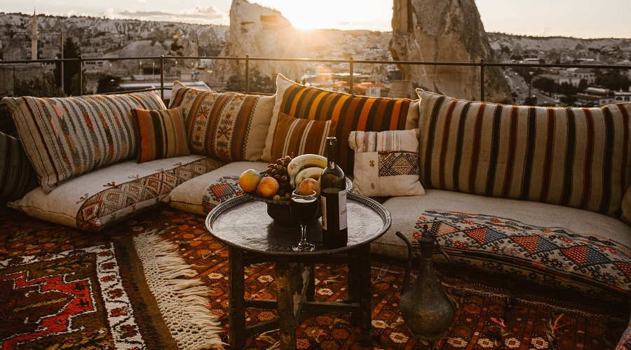 outdoor cushions seating area
