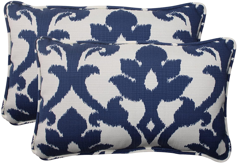 Pillow Perfect Basalto Navy Lumbar Pillows