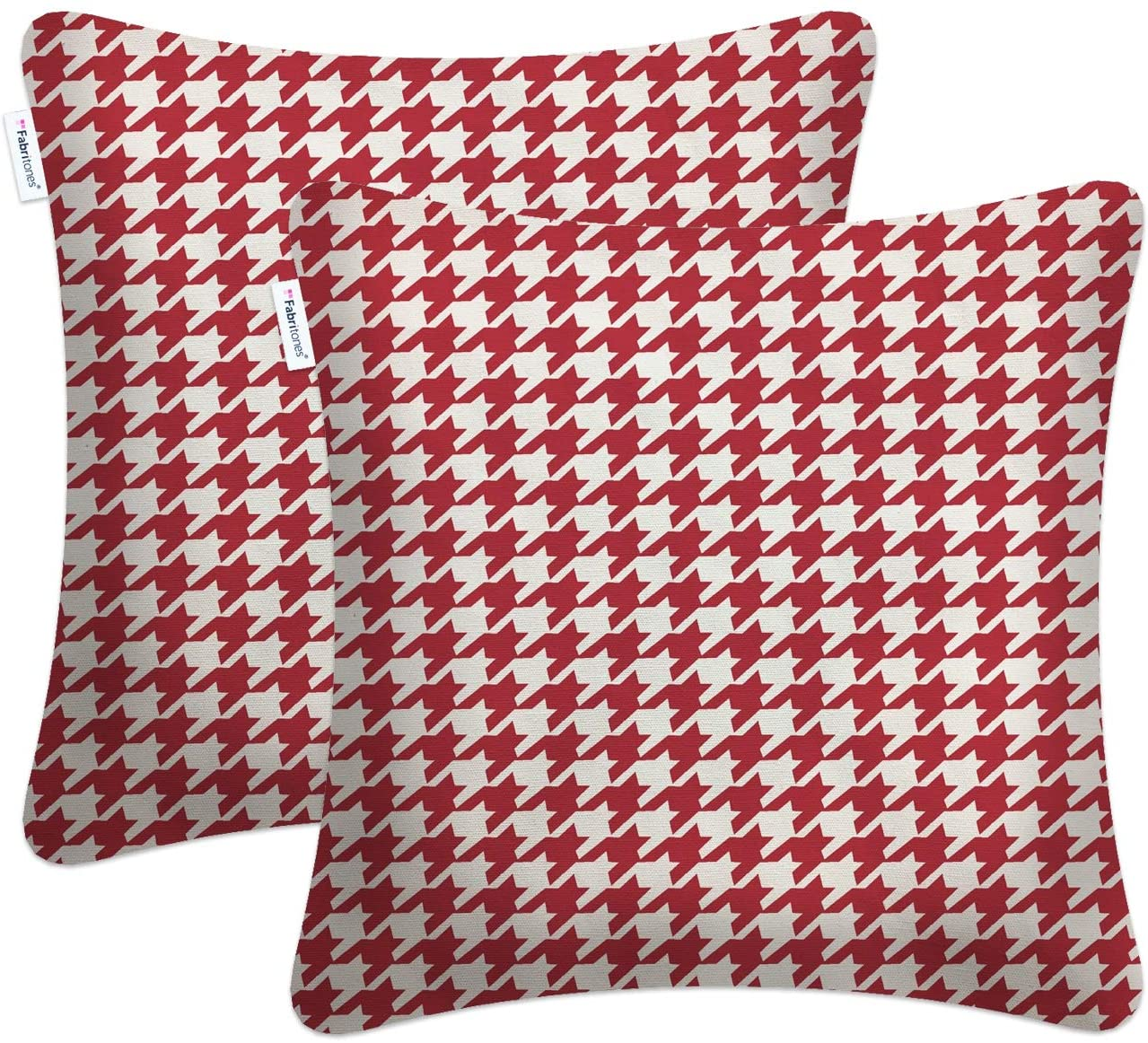 Fabritones Red Houndstooth Pillow
