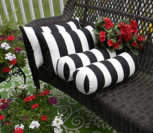 Resort Home Spa Outdoor Bolster and Lumbar Pillows
