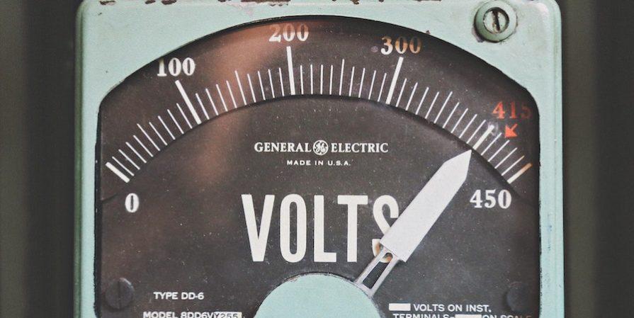 Green Vintage Voltage Gauge