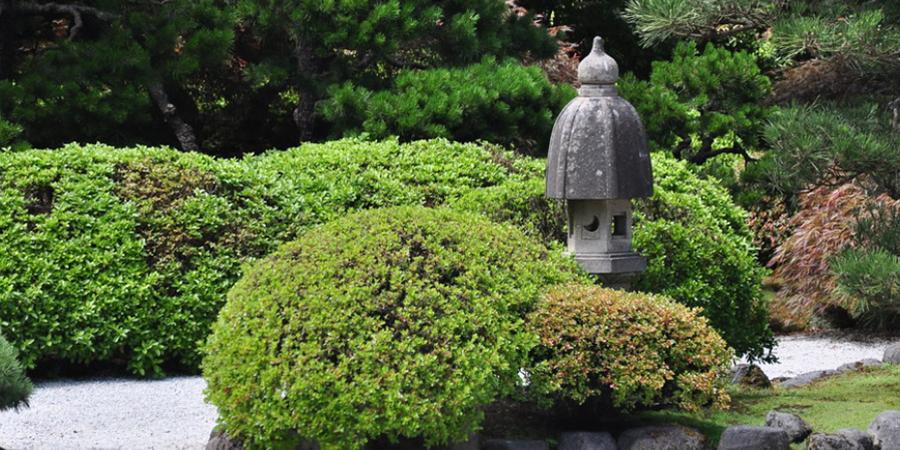 Zen Garden with Birdhouse