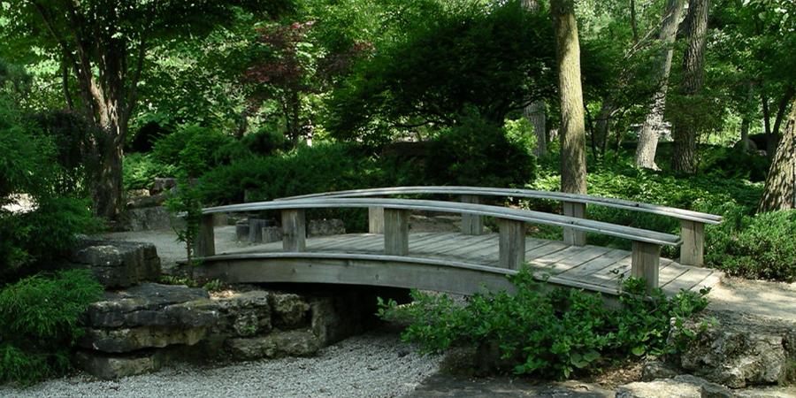 Zen Garden with Bridge