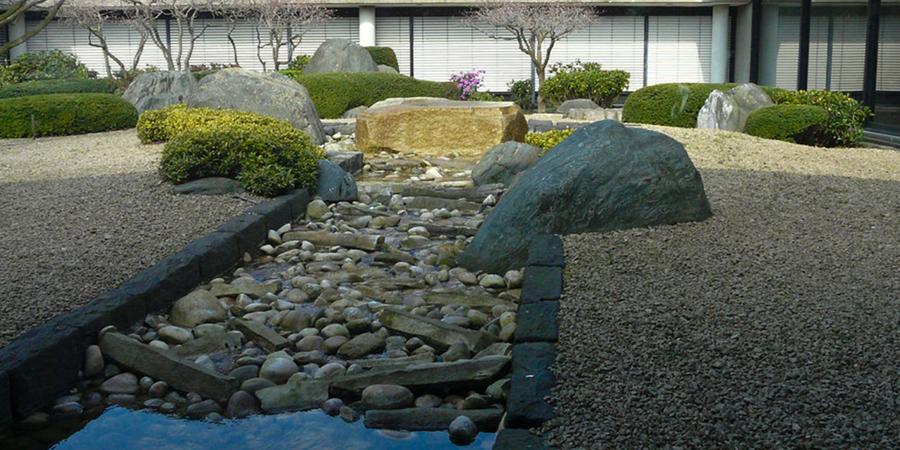 Zen Garden with River
