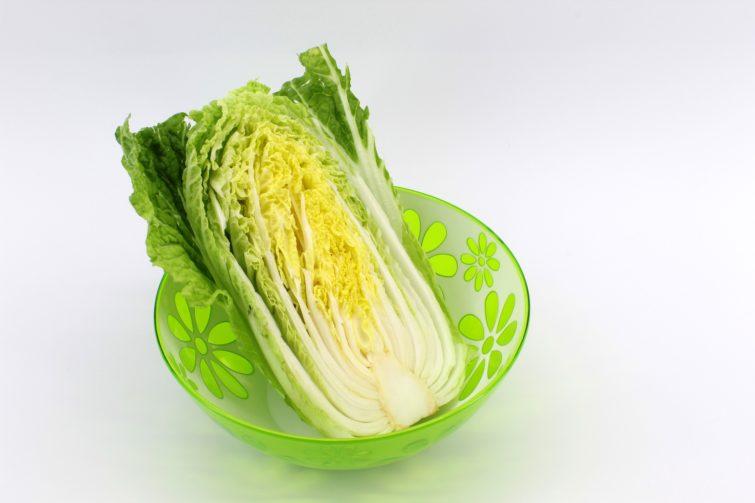 beijing cabbage cut in half