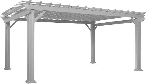 Hawthorne 16' x 12' White Steel Traditional Pergola