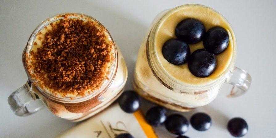 Blueberry truffle in a jar