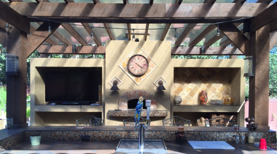 outdoor kitchen with tap