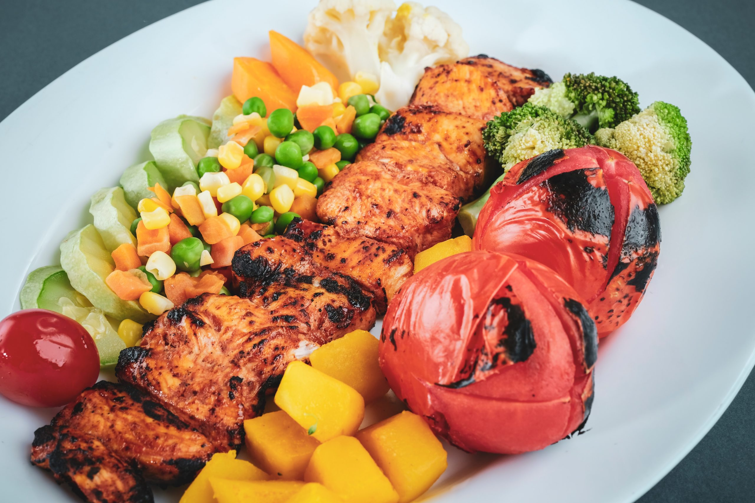 Grilled vegetables and tofu