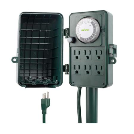 BN-LINK 24 Hour Mechanical Outdoor Multi Socket Timer