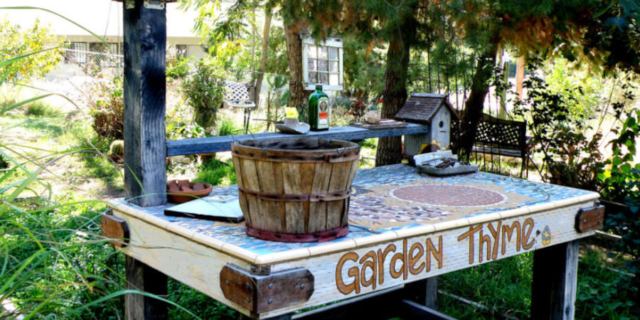 Decorative Potting Bench