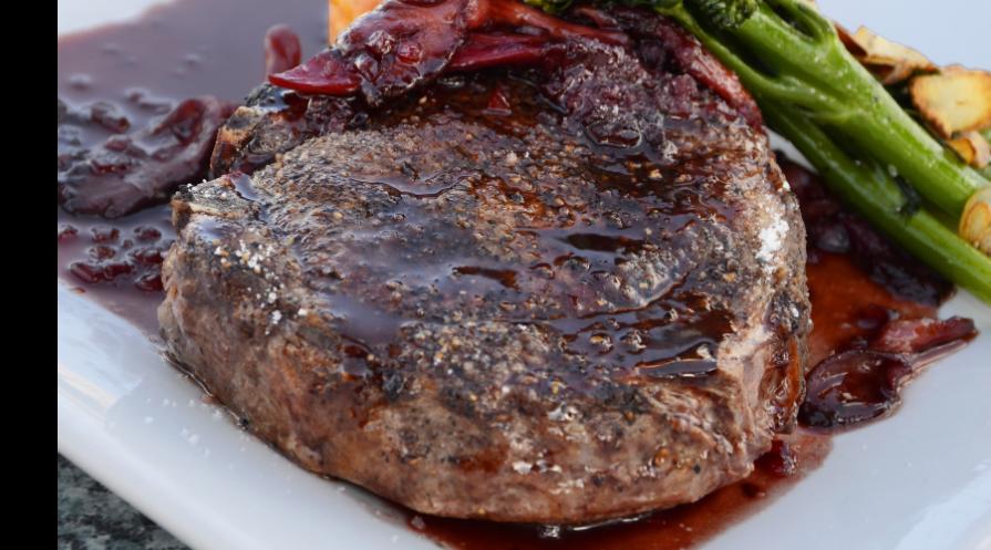 Marinated, grilled steak