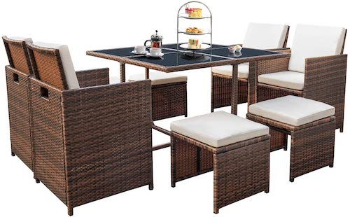 Devoko patio dining set
