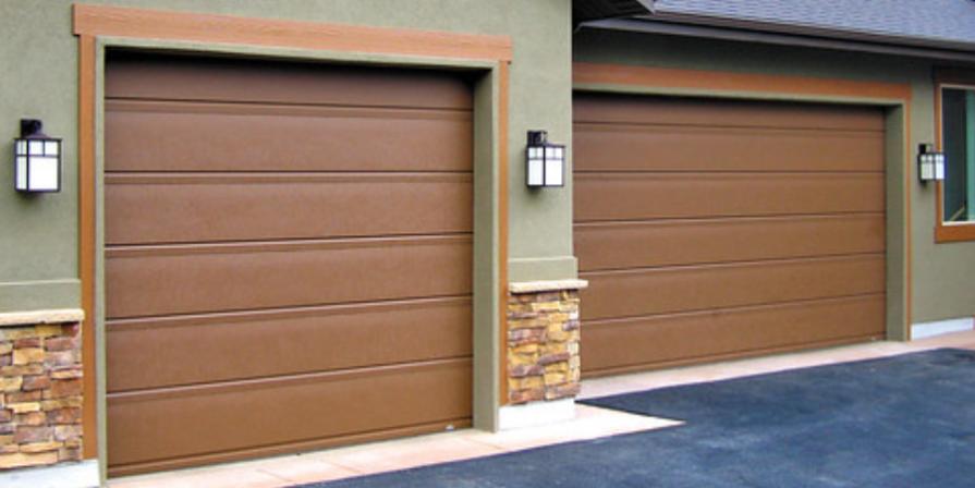 Rusty Iron Garage Door