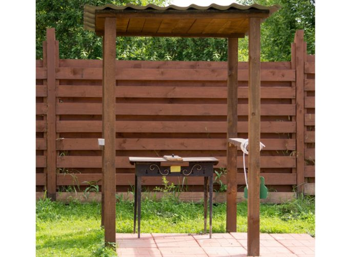 wooden grill canopy