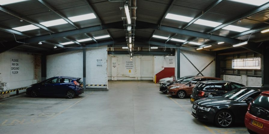 Multiple cars in large garage