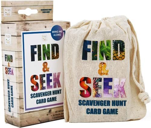 Hapinest Find and Seek Scavenger Hunt Card Game
