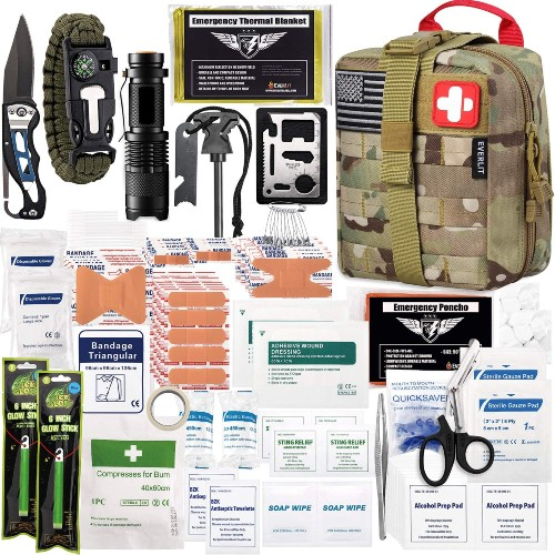 Camping Checklist: What Basics Do I Need For Camping? - EVERLIT 250 Pieces Survival First Aid Kit