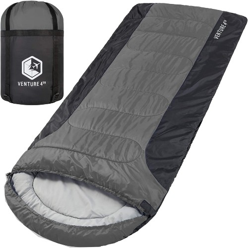 Camping Checklist: What Basics Do I Need For Camping? - VENTURE 4TH Lightweight Warm & Cold Weather XXL Sleeping Bag