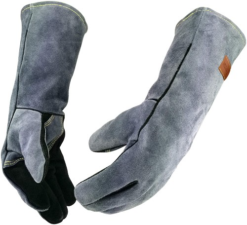 QZQH Leather Forge Welding Gloves with Kevlar Stitching