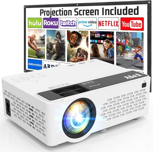 TMY1080P Full HD Projector with 100 Inch Projector Screen