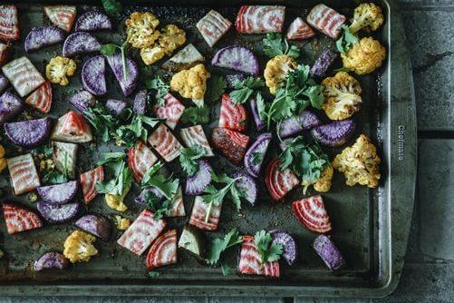 tray with dried veggies