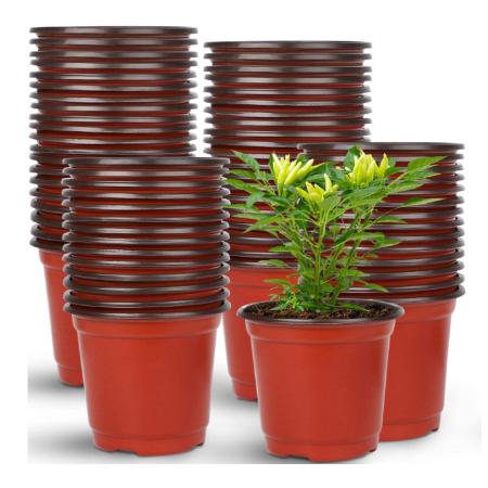 Augshy 150 Pcs 4 Plastic Plants Nursery Pots