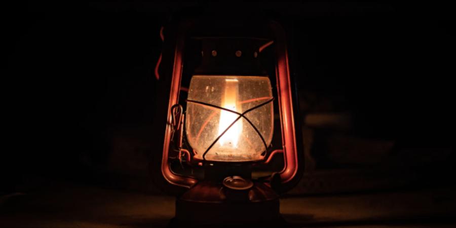Camping Lantern in the Dark