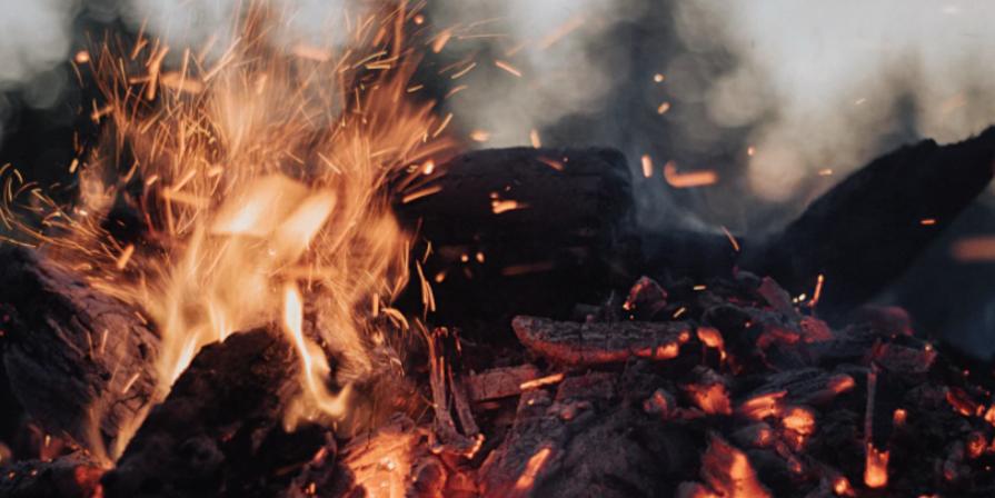 Closeup of Camp Fire