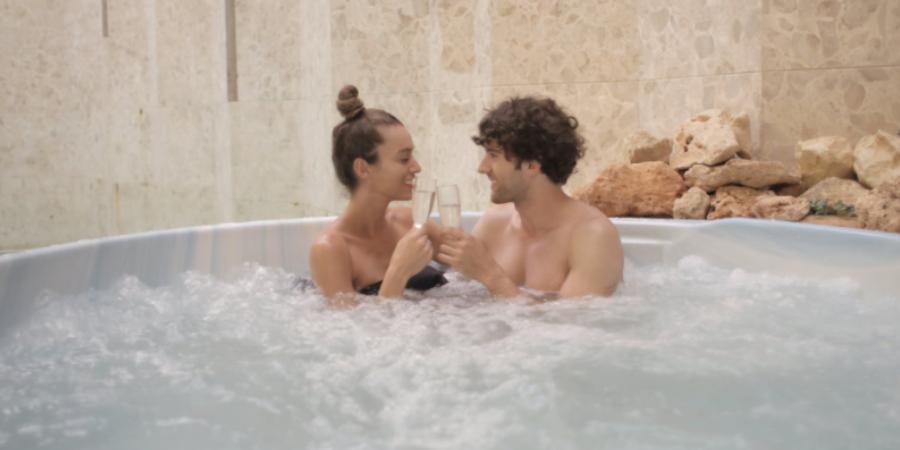 Couple enjoying Hot Tub