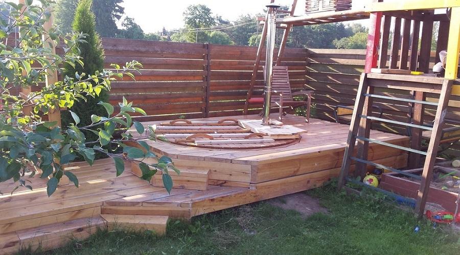 Integrated Hot Tub Deck – hot tub steps