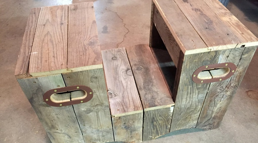 Integrated Hot Tub Deck – hot tub steps Reclaimed Wood Steps – hot tub steps