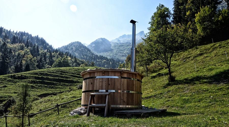 Tiny Stepper – hot tub steps Wooden Step Ladder – hot tub steps