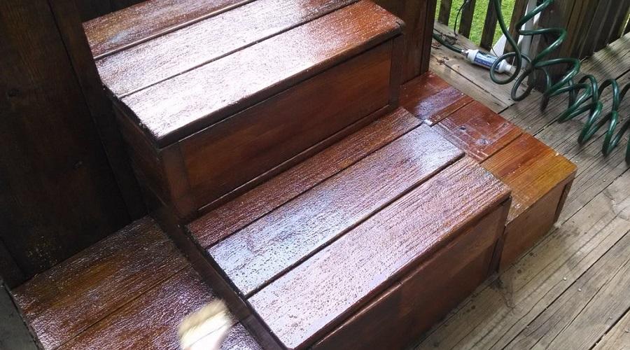 Non-Slip Varnish – hot tub steps