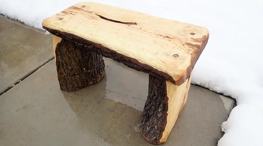 Mini Tree Trunk Bench