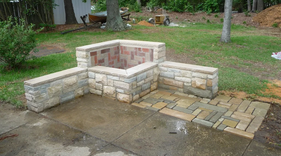 Integrated Fire Pit Bench