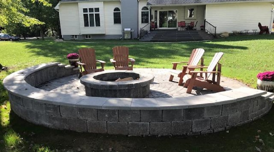 Half-Moon Stone Benches