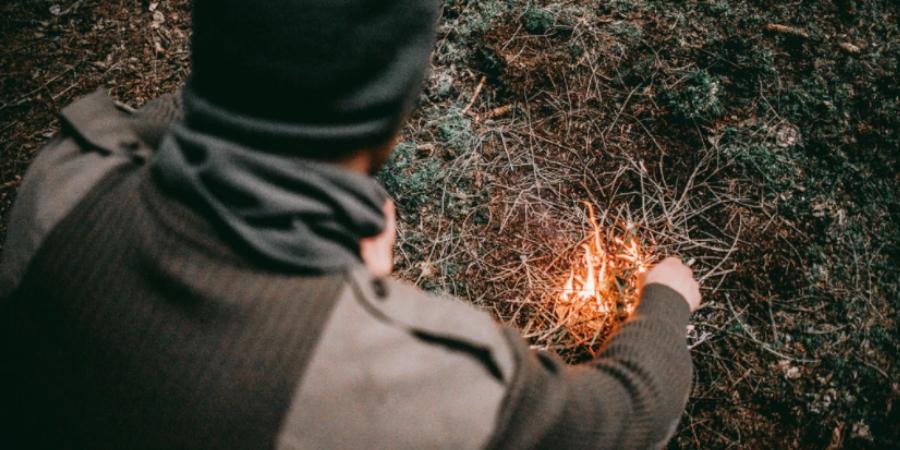 Lighting a Camp Fire